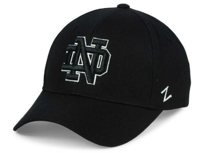Notre Dame Fighting Irish Zephyr NCAA Black & White Competitor Cap