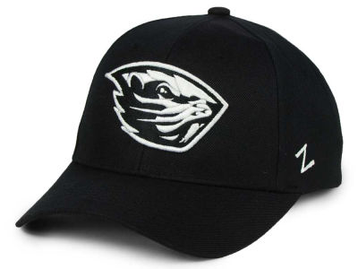 Oregon State Beavers Zephyr NCAA Black & White Competitor Cap
