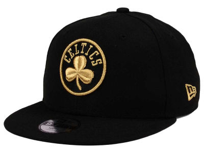 Boston Celtics New Era NBA Youth Black on Gold 9FIFTY Snapback Cap