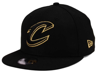 Cleveland Cavaliers New Era NBA Youth Black on Gold 9FIFTY Snapback Cap