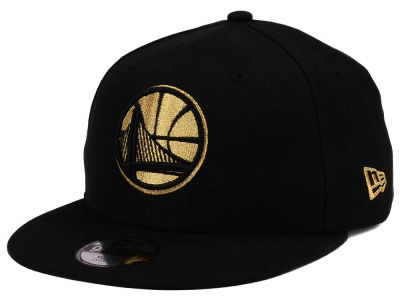 Golden State Warriors New Era NBA Youth Black on Gold 9FIFTY Snapback Cap