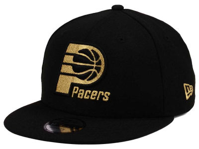 Indiana Pacers New Era NBA Youth Black on Gold 9FIFTY Snapback Cap