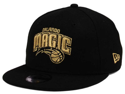 Orlando Magic New Era NBA Youth Black on Gold 9FIFTY Snapback Cap