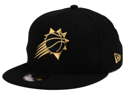 Phoenix Suns New Era NBA Youth Black on Gold 9FIFTY Snapback Cap