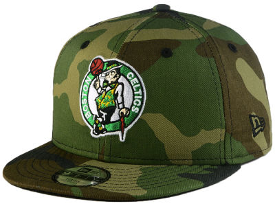 Boston Celtics New Era NBA Youth Woodland Team 9FIFTY Snapback Cap