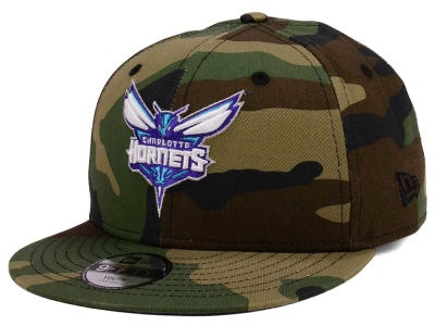 Charlotte Hornets New Era NBA Youth Woodland Team 9FIFTY Snapback Cap