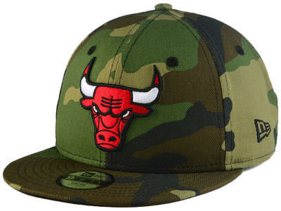 Chicago Bulls New Era NBA Youth Woodland Team 9FIFTY Snapback Cap