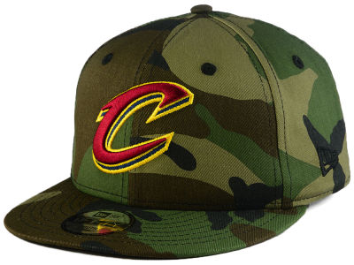 Cleveland Cavaliers New Era NBA Youth Woodland Team 9FIFTY Snapback Cap