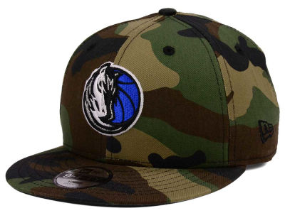 Dallas Mavericks New Era NBA Youth Woodland Team 9FIFTY Snapback Cap