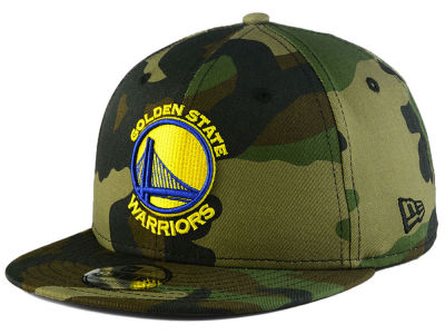 Golden State Warriors New Era NBA Youth Woodland Team 9FIFTY Snapback Cap