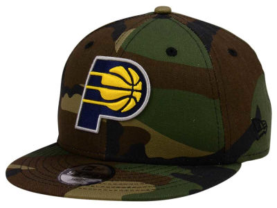 Indiana Pacers New Era NBA Youth Woodland Team 9FIFTY Snapback Cap