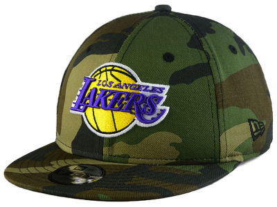 Los Angeles Lakers New Era NBA Youth Woodland Team 9FIFTY Snapback Cap