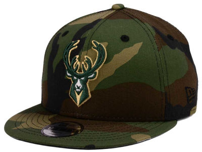 Milwaukee Bucks New Era NBA Youth Woodland Team 9FIFTY Snapback Cap