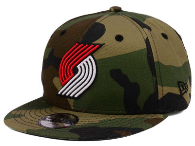 Portland Trail Blazers New Era NBA Youth Woodland Team 9FIFTY Snapback Cap