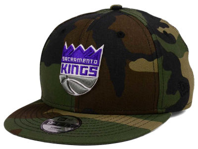 Sacramento Kings New Era NBA Youth Woodland Team 9FIFTY Snapback Cap