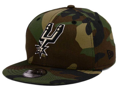 San Antonio Spurs New Era NBA Youth Woodland Team 9FIFTY Snapback Cap