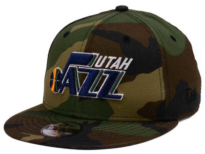 Utah Jazz New Era NBA Youth Woodland Team 9FIFTY Snapback Cap