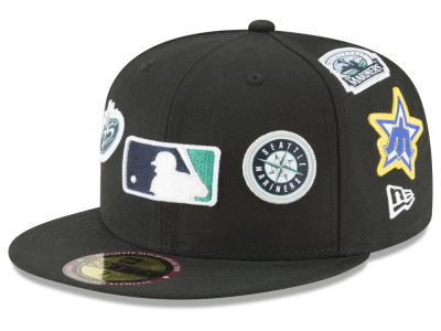 Seattle Mariners New Era MLB Ultimate Patch Collection All Patches 59FIFTY Cap