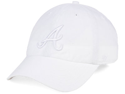 Atlanta Braves '47 MLB White/White '47 CLEAN UP Cap