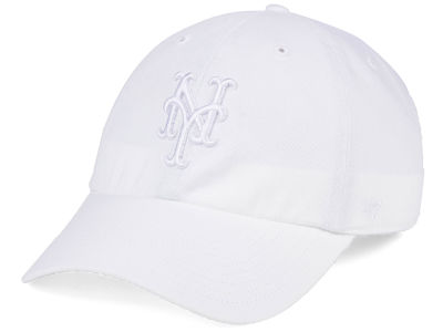 New York Mets '47 MLB White/White '47 CLEAN UP Cap