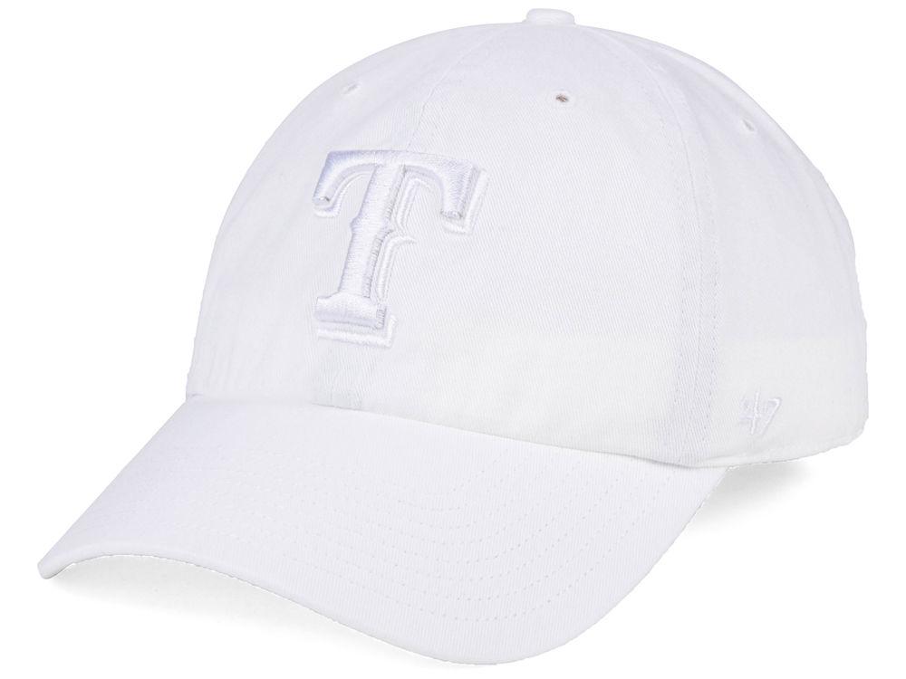 big sale 8c948 b6f24 new zealand texas rangers 47 mlb white white 47 clean up cap dd1cf 5f7d0