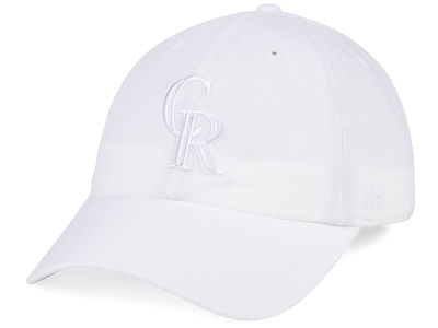 Colorado Rockies '47 MLB White/White '47 CLEAN UP Cap