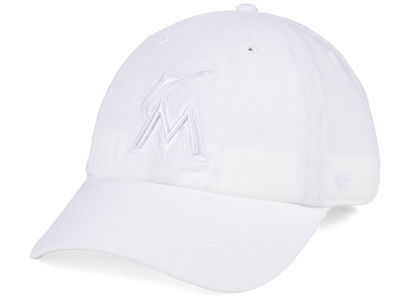 Miami Marlins '47 MLB White/White '47 CLEAN UP Cap