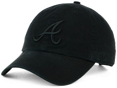 Atlanta Braves '47 MLB Black on Black CLEAN UP Cap