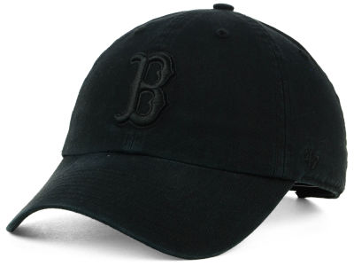 Boston Red Sox '47 MLB Black on Black CLEAN UP Cap