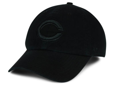 Cincinnati Reds '47 MLB Black on Black CLEAN UP Cap