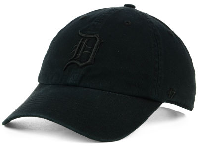 Detroit Tigers '47 MLB Black on Black CLEAN UP Cap