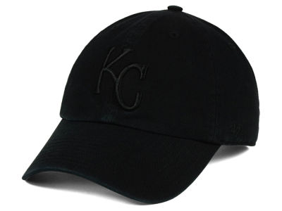 Kansas City Royals '47 MLB Black on Black CLEAN UP Cap