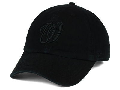 Washington Nationals '47 MLB Black on Black CLEAN UP Cap