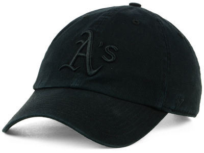 Oakland Athletics '47 MLB Black on Black CLEAN UP Cap