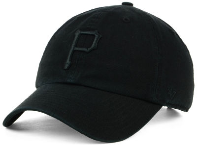 Pittsburgh Pirates '47 MLB Black on Black CLEAN UP Cap
