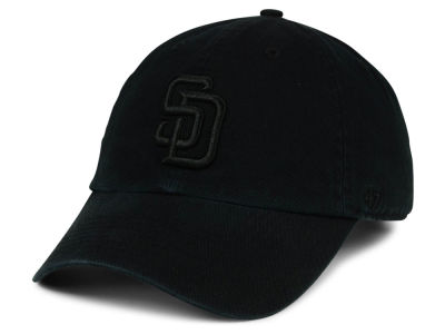 San Diego Padres '47 MLB Black on Black CLEAN UP Cap