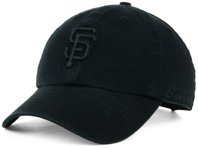 San Francisco Giants '47 MLB Black on Black CLEAN UP Cap