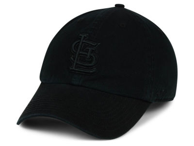 St. Louis Cardinals '47 MLB Black on Black CLEAN UP Cap
