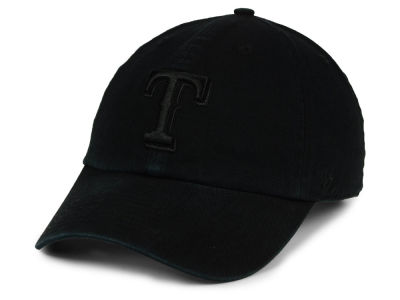 Texas Rangers '47 MLB Black on Black CLEAN UP Cap