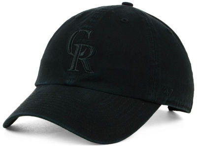 Colorado Rockies '47 MLB Black on Black CLEAN UP Cap