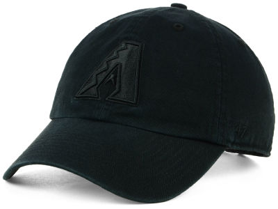 Arizona Diamondbacks '47 MLB Black on Black CLEAN UP Cap
