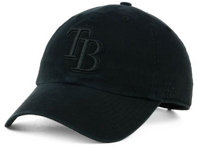 Tampa Bay Rays '47 MLB Black on Black CLEAN UP Cap