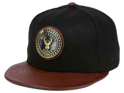 Milwaukee Bucks New Era NBA Butter Badge 9FIFTY Snapback Cap