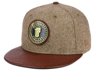 Detroit Pistons New Era NBA Butter Badge 9FIFTY Snapback Cap