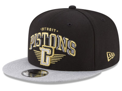 Detroit Pistons New Era NBA Gold Mark 9FIFTY Snapback Cap
