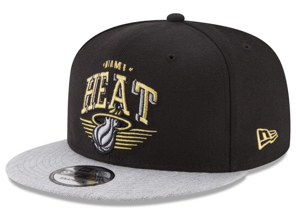 the latest 80fd9 587fd ... hot miami heat new era nba gold mark 9fifty snapback cap lids 7f39b  2171b