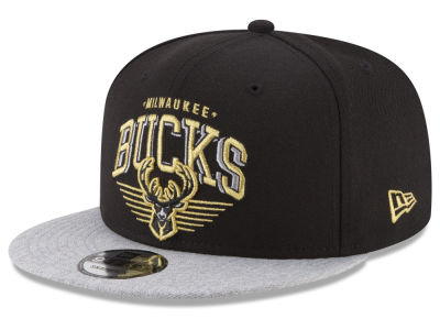 Milwaukee Bucks New Era NBA Gold Mark 9FIFTY Snapback Cap