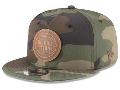 Detroit Pistons New Era NBA Camo 9FIFTY Snapback Cap