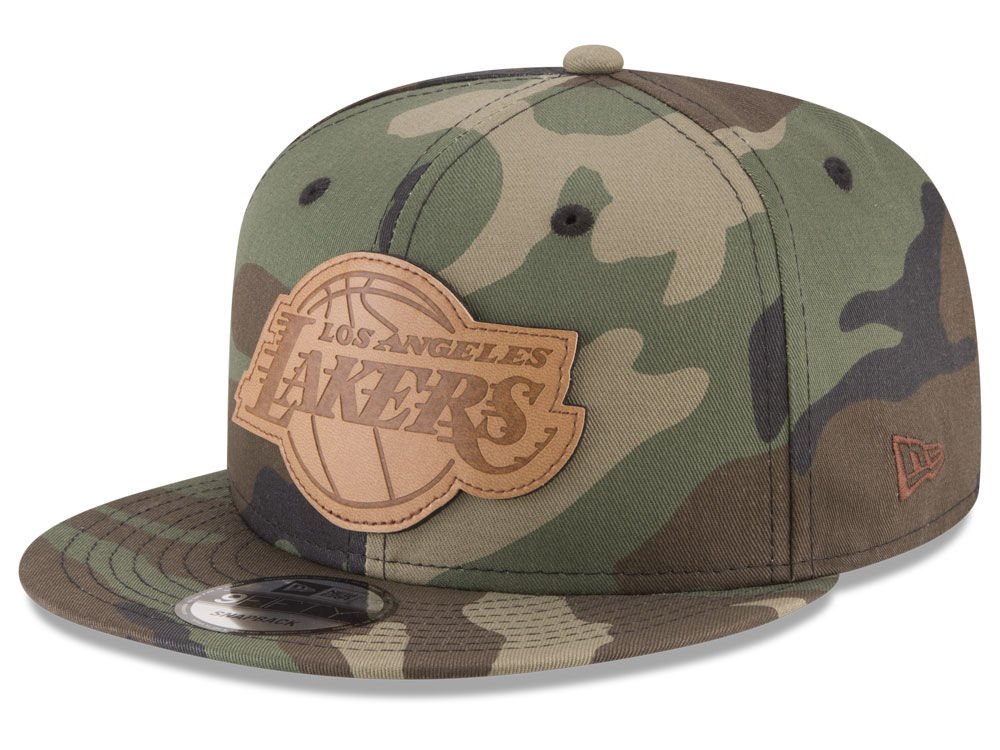 07432d40227 Los Angeles Lakers New Era NBA Sergeant Camo 9FIFTY Snapback Cap ...