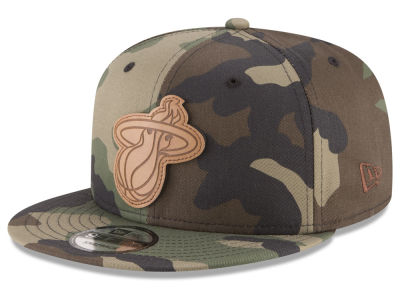 Miami Heat New Era NBA Sergeant Camo 9FIFTY Snapback Cap